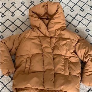 Short Puffer Cocoon Jacket